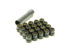 Muteki Lug Nuts Black M12x1.5 Open