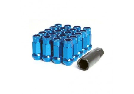 Muteki SR48 Lug Nuts Blue M12x1.5 Open