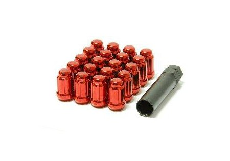 Muteki Lug Nuts Red M12x1.5 Closed