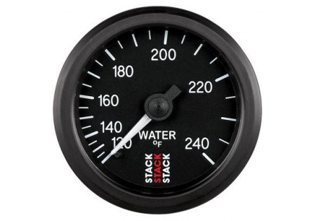 STACK 52mm Mechanical Water Temperature Gauge - 120-240F