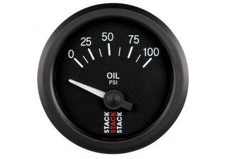 STACK 52mm Electric Oil Pressure Gauge - 0-100 psi