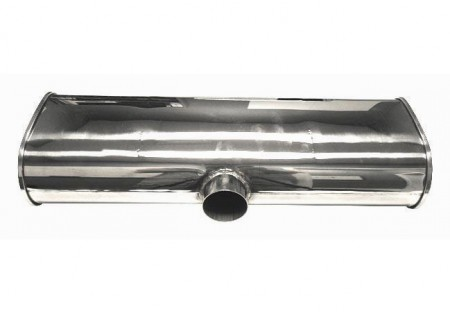 Vibrant StreetPower Muffler 2.5in Side Inlet 2x 2.25in Outlets