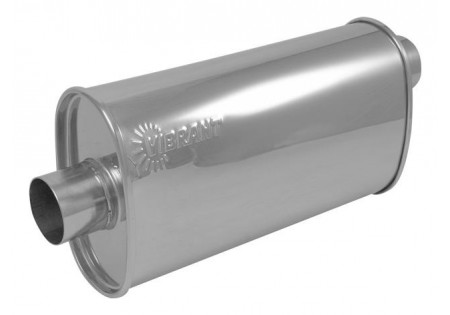Vibrant StreetPower Oval Muffler 2.5in Offset-Center