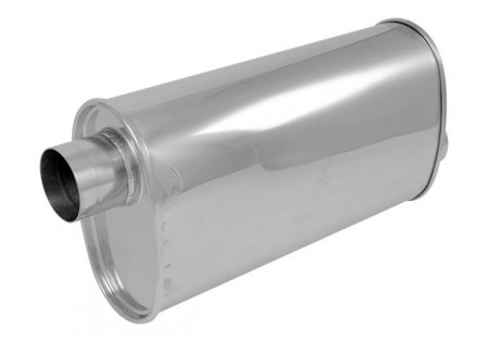 Vibrant StreetPower Oval Muffler 2.5in Offset-Offset