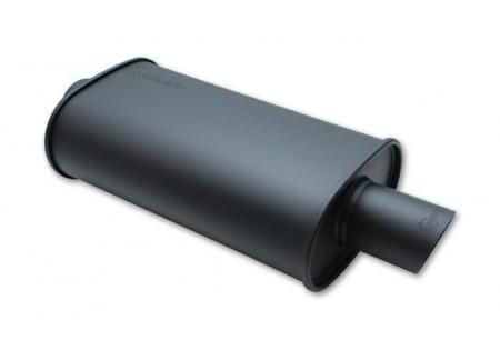 Vibrant StreetPower Flat Black Oval Muffler 2.5in Inlet