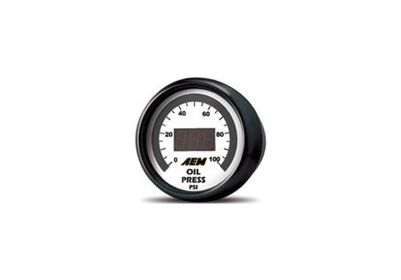 AEM Fuel/Oil Pressure Display Gauge